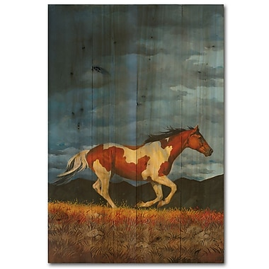 WGI GALLERY Storm Front by Chris Cummings Painting Print Plaque; 24'' H x 16'' W x 1'' D