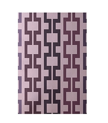 E By Design Geometric Pink Indoor/Outdoor Area Rug; Rectangle 2' x 3'