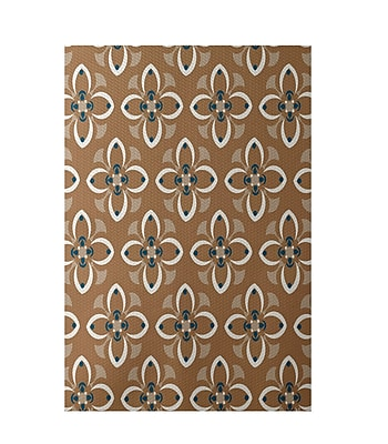 E By Design Brown Indoor/Outdoor Area Rug; Rectangle 2' x 3'