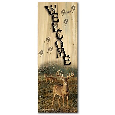 WGI GALLERY Welcome First Light by Persis Clayton Weirs Graphic Plaque; 24'' H x 8'' W x 1'' D