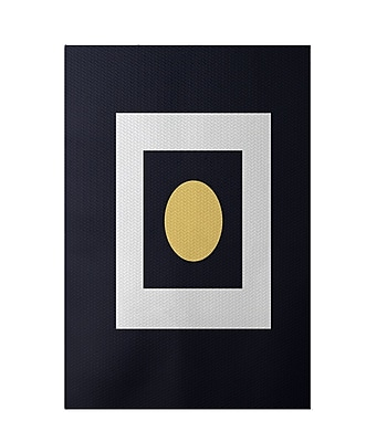 E By Design Geometric Navy Blue Indoor/Outdoor Area Rug; Rectangle 2' x 3'