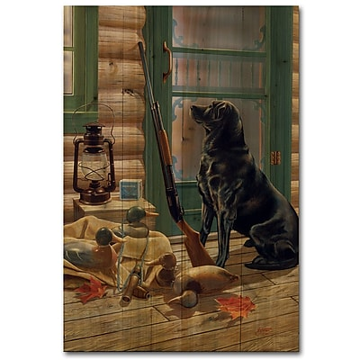 WGI GALLERY Opening Day Lab by Storm Graphic Art Plaque; 36'' H x 24'' W x 1'' D