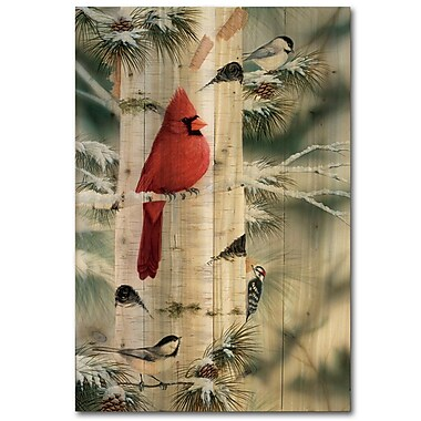 WGI GALLERY Feathered Friends 1 by Mark Daehlin Painting Print Plaque; 24'' H x 16'' W x 1'' D