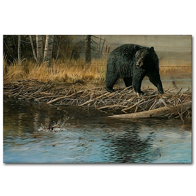 WGI GALLERY No Trespassing by Rosemary Millette Painting Print Plaque; 8'' H x 24'' W x 1'' D