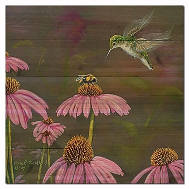 WGI GALLERY Competion Bee Hummingbird by Carol Decker Painting Print Plaque; 12'' H x 12'' W x 1'' D