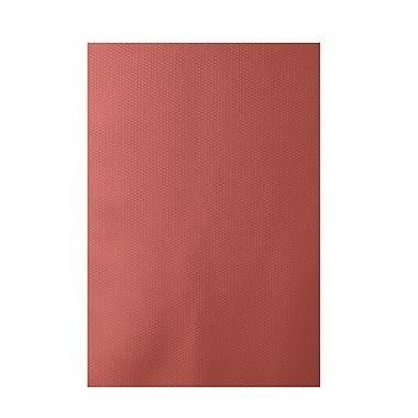 E By Design Solid Orange Indoor/Outdoor Area Rug; 2' x 3'