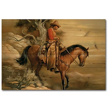 WGI GALLERY Long Road Home by Russ Docken Painting Print Plaque; 30'' H x 40'' W x 1'' D