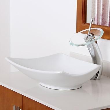 Elite Ceramic Specialty Vessel Bathroom Sink; Oil Rubbed Bronze