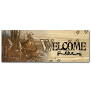 WGI GALLERY Welcome Season's End by Michael Sieve Graphic Art Plaque; 8'' H x 24'' W x 1'' D