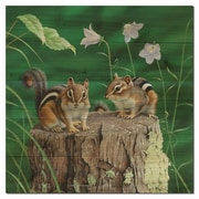 WGI GALLERY Chipmunks by Neal Anderson Graphic Art Plaque; 24'' H x 24'' W x 1'' D