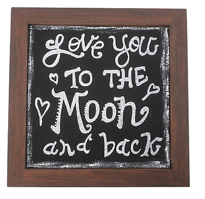 Craft Outlet Love The Moon Framed Textual Art