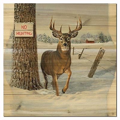 WGI GALLERY No Hunting by Jon Ren Painting Print Plaque; 12'' H x 12'' W x 1'' D