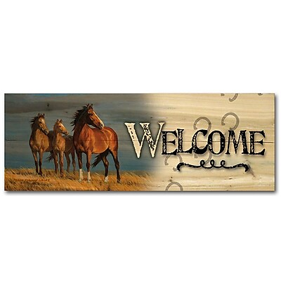 WGI GALLERY Welcome on Alert by Persis Clayton Weirs Graphic Plaque; 4'' H x 12'' W x 0.5'' D