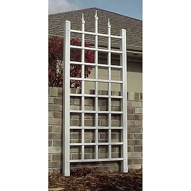 Dura-Trel Inc. Camelot Vinyl Lattice Panel Trellis; White