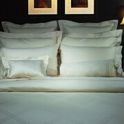 Highland Feather Champagne Diamond Jacquard Duvet Cover; King