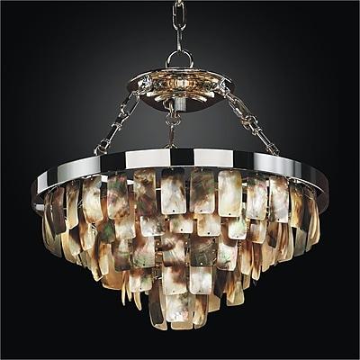Glow Lighting Mailbu 5-Light Crystal Chandelier