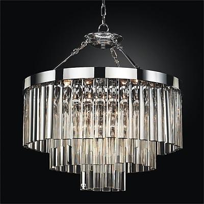 Glow Lighting Wind Chime 6-Light Crystal Chandelier