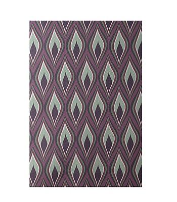 E By Design Purple Indoor/Outdoor Area Rug; Rectangle 2' x 3'