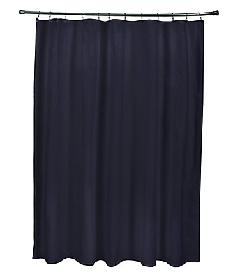 E By Design Solids Shower Curtain; Navy Blue
