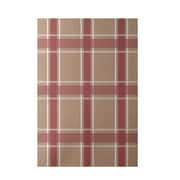 E By Design Geometric Taupe Indoor/Outdoor Area Rug; 4' x 6'
