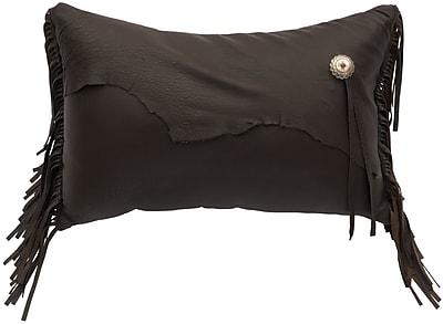 Wooded River Yellowstone II Leather Lumbar Pillow