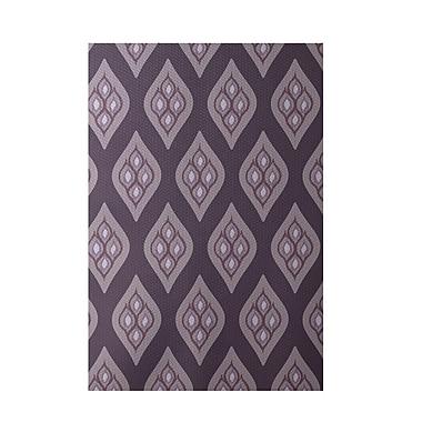 E By Design Floral Purple Indoor/Outdoor Area Rug; 2' x 3'