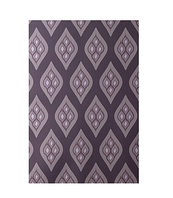 E By Design Floral Purple Indoor/Outdoor Area Rug; Rectangle 2' x 3'