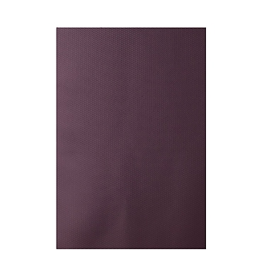 E By Design Solid Purple Indoor/Outdoor Area Rug; 2' x 3'