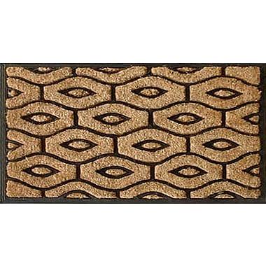 A1 Home Collections LLC Honeycomb Brush Doormat