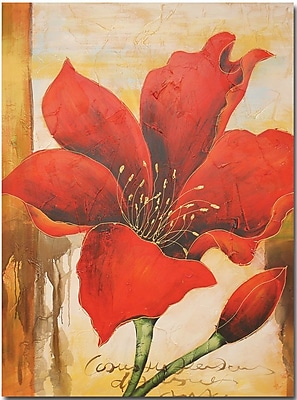 Quest Products Inc Flower Painting on Wrapped Canvas