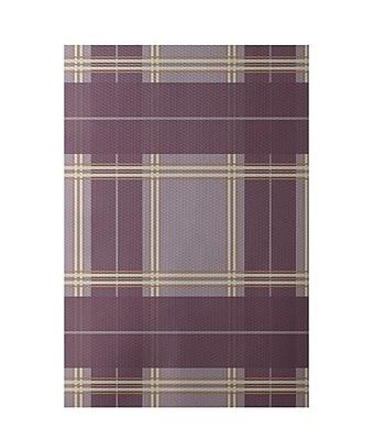 E By Design Geometric Purple Indoor/Outdoor Area Rug; Rectangle 2' x 3'