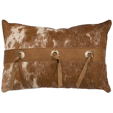 Wooded River Leather Lumbar Pillow