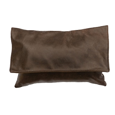 Wooded River Hudson Leather Lumbar Pillow