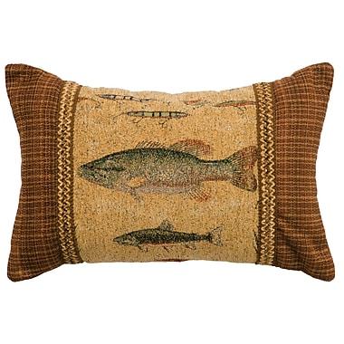 Wooded River Reel Time Lumbar Pillow