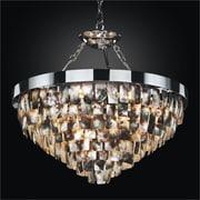 Glow Lighting Mailbu 6-Light Crystal Chandelier