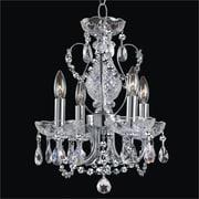 Glow Lighting Petite Jewel 4-Light Crystal Chandelier
