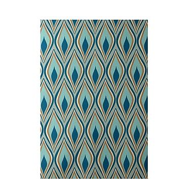 E By Design Green Indoor/Outdoor Area Rug; Rectangle 2' x 3'