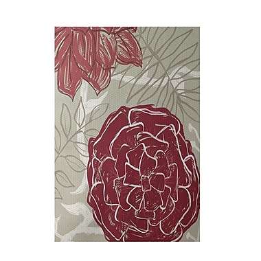 E By Design Floral Rust Indoor/Outdoor Area Rug; 2' x 3'