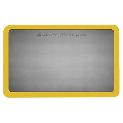 Smart Step® Supreme Polyurethane Anti-Fatigue Mat W/Dual Yellow Safety Border, 36