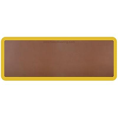 Smart Step® Supreme Polyurethane Anti-Fatigue Mat With Yellow Safety Border, 60