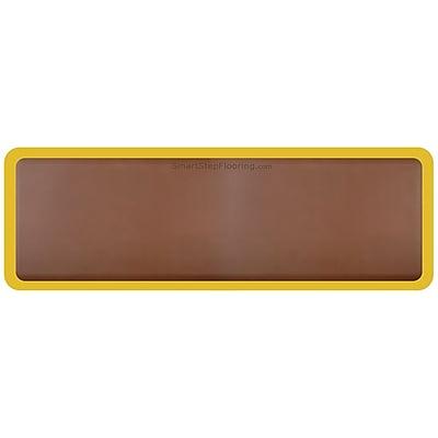 Smart Step® Supreme Polyurethane Anti-Fatigue Mat With Yellow Safety Border, 72