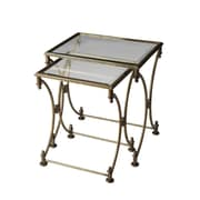 Butler Metalworks 2 Piece Nesting Tables; Antique Gold