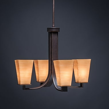 Toltec Lighting Apollo 4-Light Shaded Chandelier; Cayenne