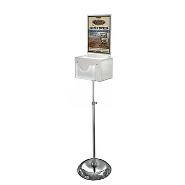Azar Displays Suggestion Box with Pocket, L, White (206320-WHT)