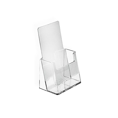 Counter Trifold Brochure Holder, Clear, 25/Pack