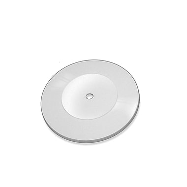 Azar Displays Flat Revolving Display Base, White, 10/Pack (610107-WHT)