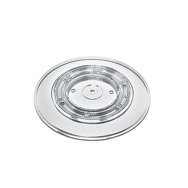 Azar Displays Wide Revolving Display Base, Clear, 10/Pack (610109-CLR)
