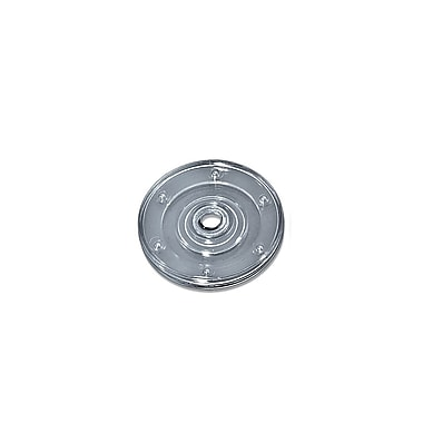 Azar Displays Flat Revolving Display Base, Clear, 10/Pack (610144-CLR)