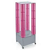 "Azar Displays 64"" Pegboard Four Tower Display Pink"