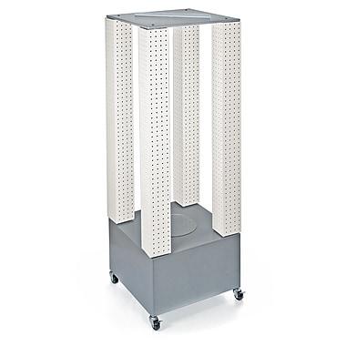 Azar Displays Multi-Tower Pegboard Floor Display, White (700228-WHT)